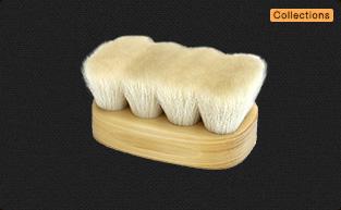 フィニッシングブラシ 山羊毛・馬毛